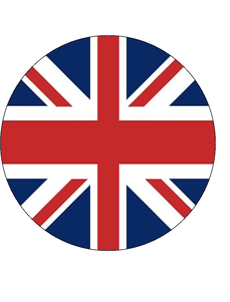 Union Jack Flag 75 Patriotic ICING Cake Topper UK GREAT BRITAIN